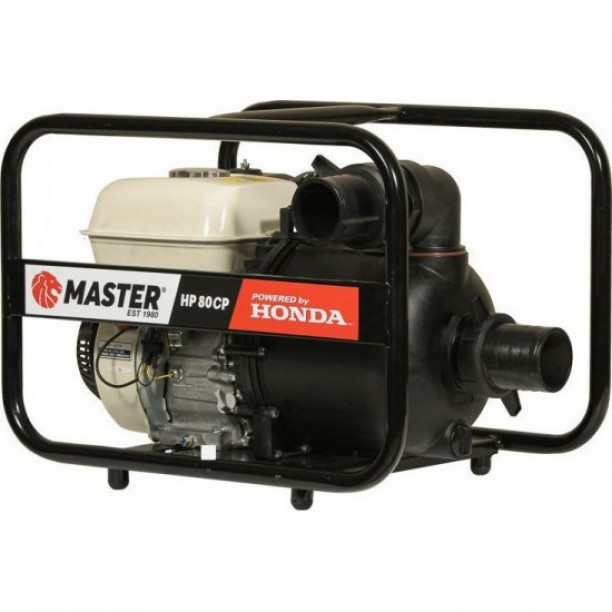 """Αντλητικό Συγκρότημα Master χημικών και θαλάσσης  HP 80CP Με κινητήρα HONDA GP200 και αντλία 3""""."""