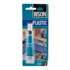 BISON 66408 Κόλλα για σκληρά πλαστικά PVC 25ml, 66408