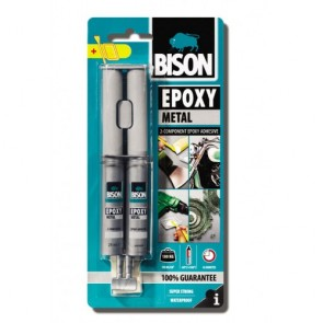 Bison Εποξική Κόλλα Δύο Στοιχείων Epoxy Metal 24ml