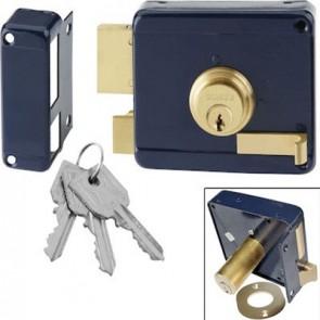 Domus Κλειδαριά Ασφαλείας Κουτιαστή με Αντίκρυσμα  Μπλε 96250 ΔΕΞΙΑ