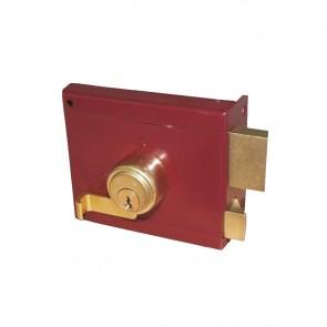 Domus ABBA Κλειδαριά Ασφαλείας Κουτιαστή χωρίς Αντίκρυσμα Αριστερή 36050L Κόκκινο