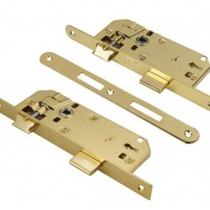 Domus Κλειδαριά Μεσόπορτας Econ Line με Κέντρα 40-75mm – Χρυσή 81140