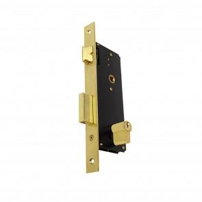 Domus Κλειδαριά Export Ξύλινης Εξώπορτας Εισόδου – Χρυσή 90845