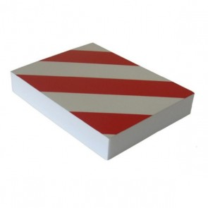 DOORADO Αυτοκόλλητο αφρώδες προστατευτικό τοίχων γκαράζ με κόκκινες και λευκές ανακλαστικές λωρίδες PARK-FWP2418RW
