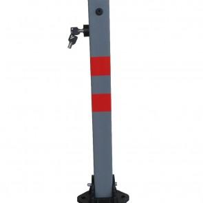 Doorado Κολονάκι παρεμπόδισης στάθμευσης γκρι-τετράγωνο FOB-SG 60Χ60mm