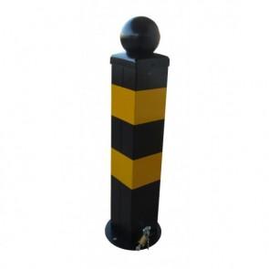 DOORADO Μεταλλικό κολωνάκι με λουκέτο και διακοσμητική μπάλα PARK-SBM-100S