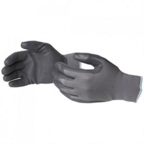 Γάντι νιτριλίου χρώματος μαύρο με naylon γκρι στο καρπό Νο10