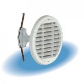 E13TU05 Σχάρα αέρα Φ135 στρογγυλή με σίτα PVC χρώμα λευκό της NICOLL
