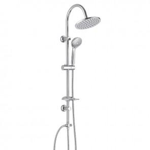 Viospiral Στήλη Ντουζ Ντουζιέρας Στρογγυλή Χρωμέ 98cm Bali 06-2030/S