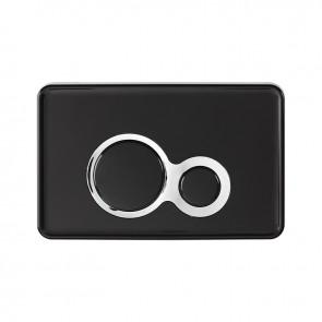 VIOSPIRAL Πλάκα χειρισμού Otto μαύρη με σατινέ δαχτυλίδι 58-23236 - Japar