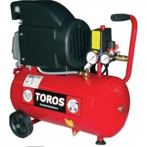 TOROS - Αεροσυμπιεστής Μονομπλόκ 24lt - 2.0 HP