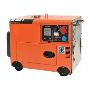 KRAFT WS 8500L-3 Γεννήτρια πετρελαίου Κλειστού Τύπου, Τριφασική με Μίζα και Πίνακα WS 8500L-3
