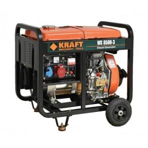 KRAFT Γεννήτρια Πετρελαίου Τριφασική 6.0 kW Με Μίζα Και Μπαταρία WS 8500-3