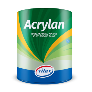 VITEX - ACRYLAN 100% ΑΚΡΥΛΙΚΟ ΧΡΩΜΑ ΕΞΩΤΕΡΙΚΟΥ ΧΩΡΟΥ ΛΕΥΚΟ 10L - 1004700