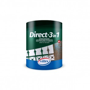 VITEX - DIRECT - 3 in 1 10 ΛΕΥΚΟ ΧΡΩΜΑ ΜΕΤΑΛΛΩΝ 750mL - 1001892