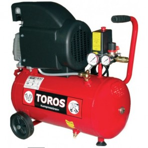 TOROS ΕΜ 50/2 Αεροσυμπιεστής Μονομπλόκ Λαδιού 2Hp 50L (40140)