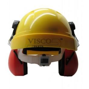 VISCO Κράνος Προστασίας με Σίτα & Ωτοασπίδες ΑΞΘ-025