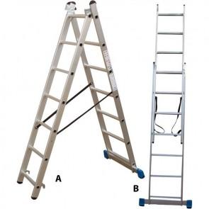 Σκάλα Profal δυο τεμ. 2x7 σκαλιά με τραβ. ελαφρού τύπου 801207