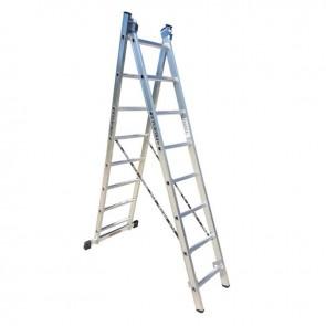 PROFAL - 801208 Σκάλα Αλουμινίου Επαγγελματικής χρήσης 2x8 (Ελαφρού Τύπου)