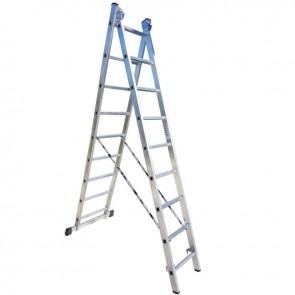 PROFAL - 801209 Σκάλα Αλουμινίου Επαγγελματικής χρήσης 2x9 (Ελαφρού Τύπου)