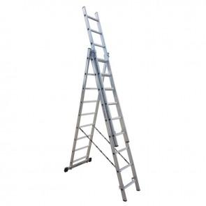 PROFAL - 801309 Σκάλα Αλουμινίου Επαγγελματικής χρήσης 3x9 (Ελαφρού Τύπου)